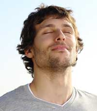 концентрируй свое внимание на глубоком дыхании, чтобы уменьшить чувствительность контактной зоны